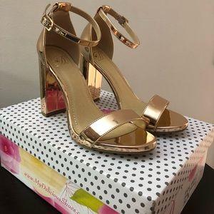 Shoes - Rose gold heels